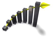 Business Chart with Arrow Stock Photography