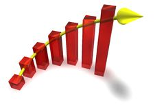 Business Chart with Arrow Stock Images