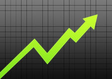Business chart arrow Stock Photos