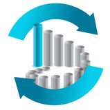 Business chart in arrow cycle illustration Royalty Free Stock Photos