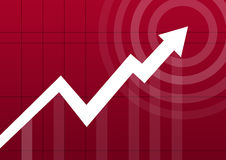 Business chart arrow point Royalty Free Stock Photography