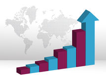 Business Chart with arrow point head Royalty Free Stock Photo