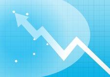Business chart arrowhead Royalty Free Stock Photo