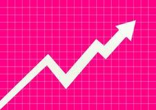 Business chart arrowhead Royalty Free Stock Photos