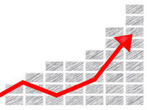 Business chart art Stock Image