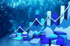 Business chart background Stock Photo