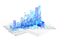 Business chart background. 3d render Royalty Free Stock Photography