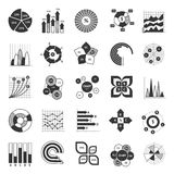 Business Chart Black And White Set Stock Photo