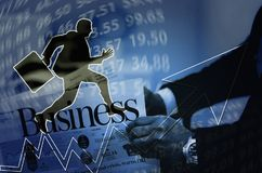 business chart blue background Royalty Free Stock Images