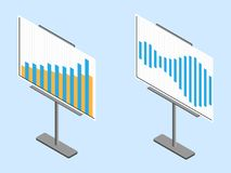 Business chart board. Set of graphs. Data visualization. Royalty Free Stock Photos