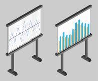 Business chart board. Set of graphs. Data visualization. Stock Photo