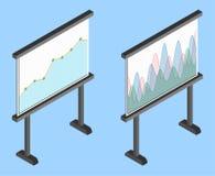 Business chart board. Set of graphs. Data visualization. Stock Image