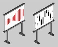 Business chart board. Set of graphs. Data visualization. Stock Photos