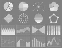 Business chart collection. Set of graphs. Data visualization. Business chart collection. Set of graphs. Analysis statistic data visualization. Infographic data Royalty Free Stock Photo
