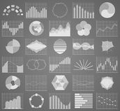Business chart collection. Set of graphs. Data visualization. Business chart collection. Set of graphs. Analysis statistic data visualization. Infographic data Stock Image
