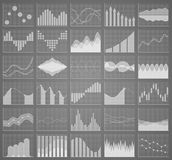 Business chart collection. Set of graphs. Data visualization. Business chart collection. Set of graphs. Analysis statistic data visualization. Infographic data Royalty Free Stock Photography