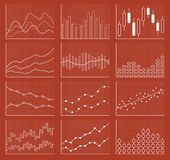 Business chart collection. Set of graphs. Data visualization. Business chart collection. Set of graphs. Analysis statistic data visualization. Vector Stock Images