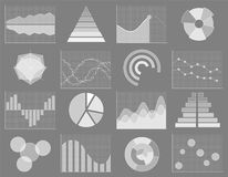 Business chart collection. Set of graphs. Data visualization. Business chart collection. Set of graphs. Analysis statistic data visualization. Infographic data Stock Photo