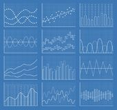 Business chart collection. Set of graphs. Data visualization. Business chart collection. Set of graphs. Analysis statistic data visualization. Vector Stock Photos