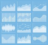Business chart collection. Set of graphs. Data visualization. Business chart collection. Set of graphs. Analysis statistic data visualization. Vector Stock Photography