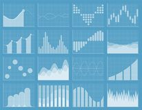 Business chart collection. Set of graphs. Data visualization. Business chart collection. Set of graphs. Analysis statistic data visualization. Infographic data Royalty Free Stock Images