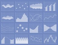 Business chart collection. Set of graphs. Data visualization. Business chart collection. Set of graphs. Analysis statistic data visualization. Infographic data Stock Images