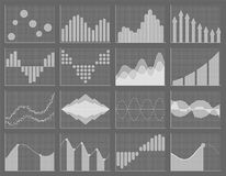Business chart collection. Set of graphs. Data visualization. Business chart collection. Set of graphs. Analysis statistic data visualization. Infographic data Stock Photography