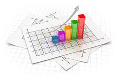 Business chart. This is a computer generated and 3d rendered image Stock Photography