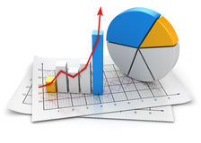 Business chart. This is a computer generated and 3d rendered image Royalty Free Stock Photos