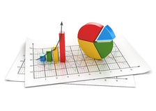 Business chart. This is a computer generated and 3d rendered image Royalty Free Stock Photo