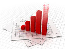 Business chart. This is a computer generated and 3d rendered image Royalty Free Stock Image