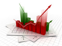 Business chart. This is a computer generated and 3d rendered image Royalty Free Stock Images