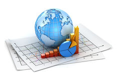 Business chart. This is a computer generated and 3d rendered image Stock Image