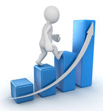 Business chart. Computer generated image. 3d render Stock Photography