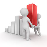 Business chart. Computer generated image. 3d render Royalty Free Stock Images