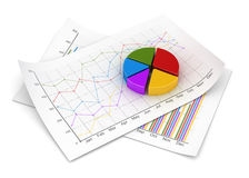 Business chart. Computer generated image. 3d rendered image Royalty Free Stock Image