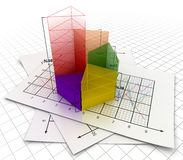 Business chart concept. This is a computer generated and 3d rendered image Stock Images