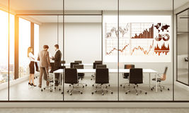 Business chart in conference room Stock Photo