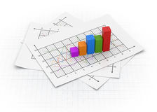 Business chart. 3d rendered image Stock Photos