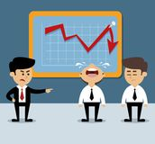 Business chart decrease Stock Image