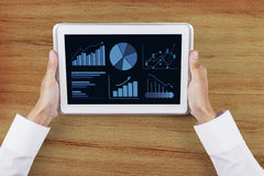Business chart on digital tablet screen Royalty Free Stock Image