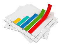 Business chart. And document , 3d rendered image Royalty Free Stock Photo