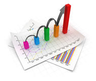Business chart and documents Royalty Free Stock Photos