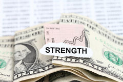 Business Chart Dollar Getting Stronger Stock Image