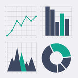 Business chart elements. Stock Photography