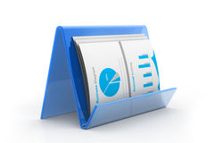 Business chart in folder Stock Photo