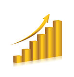 Business chart gold color vector design Royalty Free Stock Photo