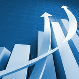Business chart graph Stock Image