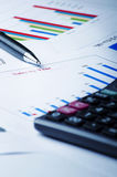 Business chart and graph Stock Images