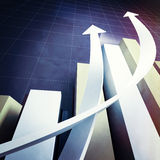 Business chart graph Royalty Free Stock Photo